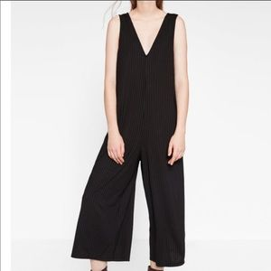 Zara Ribbed Jumpsuit- Black
